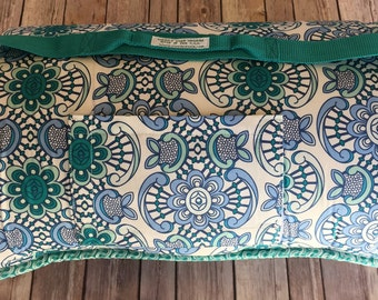 "Memory Foam Nap Mat in Aquatic Lace Designer Print (ex-long length 60"") with FREE Embroidery"