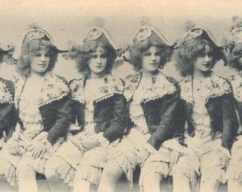 Song and Dance Sextette, German Postcard pub 1898