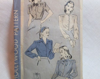 "Antique 1944 Hollywood Pattern #1415 - size 32"" Bust"