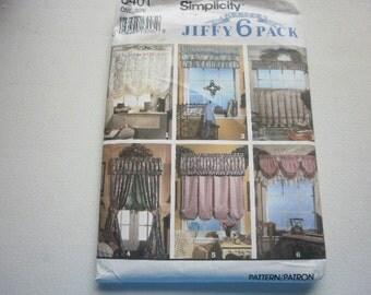 Pattern Vintage Window Treatments 6 Styles Simplicity  8401