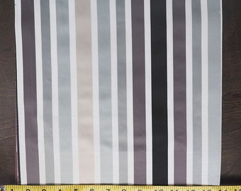Custom Curtains Valance Roman Shade Shower Curtains in Grey Multicolor Stripe Pattern Fabric