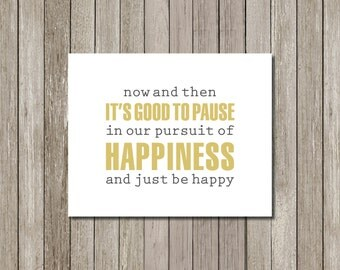 Printable Art: Just Be Happy