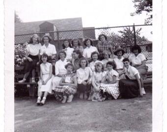 Young Ladies - Vintage Photograph - Ephemera - Vernacular - Found Photo (A)