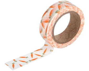 17 carrot Washi tape -orange washi-carrot stickers-craft supplies-card making- party supplies- planner washi-sticker-Love My Tapes-Dailylike