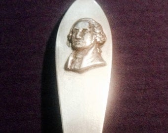 George Washington Spoon, Sterling, Slender, Graceful, Unusual and Collectible!