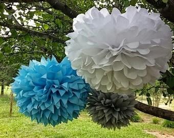 Set of 12 Paper poms. party paper pom poms, paper poms pom poms party pom pom, wedding decor