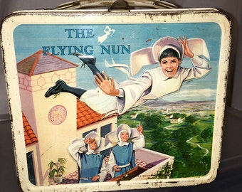 1968 the flying nun sally fields tv show movie Aladdin industries metal lunch box lunchbox