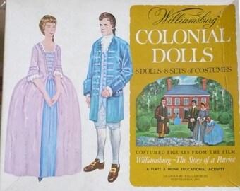 "Williamsburg Colonial Dolls Paper Dolls, ""The Story of a Patriot"", A Platt & Munk Educational Activity"