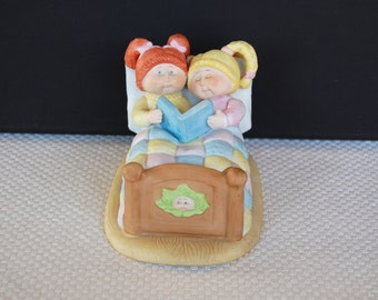 """Vintage Cabbage Patch """"Bedtime Story"""" Figurine circa 1984 Xavier Roberts"""