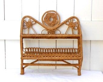 Boho Wicker Vintage Shelf