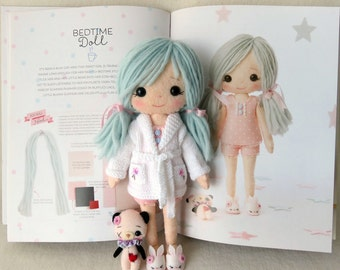 PDF Knitted Dressing Gown Pattern for Gingermelon My Felt Doll