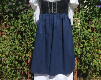 Renaissance Costume With Faux Leather, size 14-16