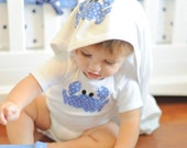 Louisian Crab Onesie, Gown, Bib or Blanket a variety of fabric choices
