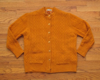 womens vintage cable knit cardigan