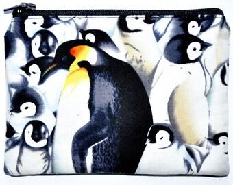 Penguin Zipper Pouch Coin Purse Change Purse Wallet Card Holder Wallet Zippered Pouch