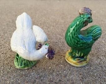Pair of Chicken Figurines