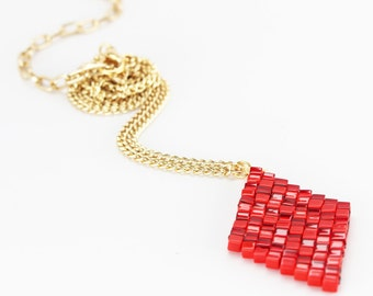 VALENTINES - red diamond necklace in stock!