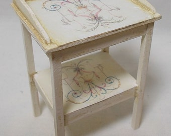 Dolls house Miniature ## SALE ## Shabby-Chic French style small Washstand