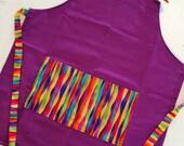 Kids apron, childs apron, childrens apron, art smock, bib apron, little apron, small size