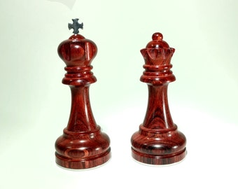 King and Queen Chess Piece Custom Engraved - Anniversary - Birthday Gift