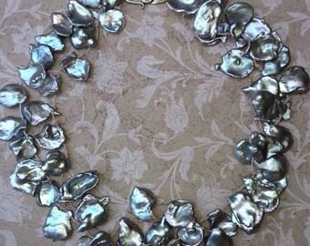 Natural Grey Keshi Pearls