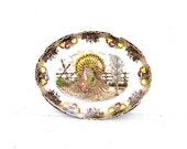 RESERVED King Tom Ironstone Turkey Platter, Large Ironstone Turkey Platter, Vintage Thanksgiving Dinner