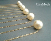 Single Pearl Necklace, gold pearl necklace, bridesmaids gifts, ivory pearl, pearl pendant, bridal necklace, everyday jewelry