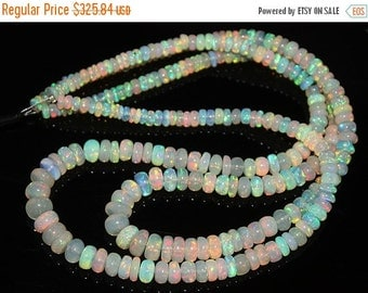 VALENTINE SALE 55% Welo Ethiopian Opal Smooth Polished Rondelle Beads Strand, 16 inches, 4-7mm