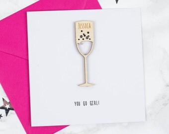 Personalised Prosecco Card
