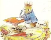 Mouse at His Mushroom Desk Charming Colorful Marian Heath Unused Vintage Postcard – Delightful Anthropomorphic Image