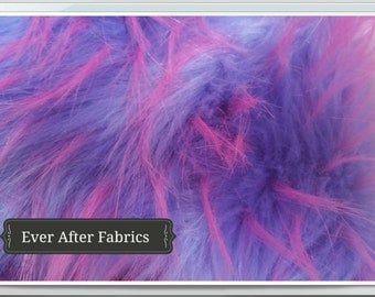 Lavender and Pink Spikes Faux Fur Craft Size