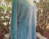 Raglan tunic Sky Blue elegant hand dyed hemp and organic cotton Women's Size M/L