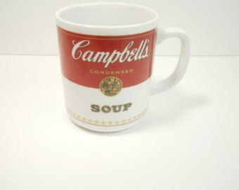 Vintage Campbell's Tomato Soup Cup Mug Corning Glass Works