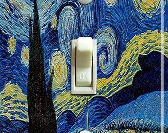 The Starry Night (De sterrennacht)  Vincent Van Gogh Single/Double/Triple Switch Plate *FREE SHIPPING*
