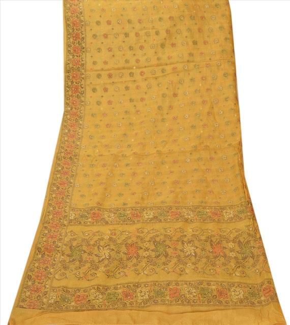 Vintage Shawl/Stole. Regency Style. Mustard Gold 'Art' Silk Paisley brocade