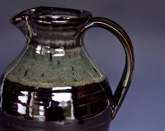 Ceramic Pottery Pitcher Handmade Stoneware Vase C