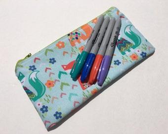 Zipper Pouch Pencil Pouch Pencil Case Fox Kids School Supplies