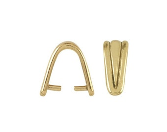 14K White or Yellow Gold Corrugated Pinch Bail for briolettes.