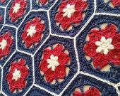 UK terms Hoya Hive Hexies Crochet Pattern
