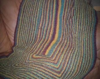 "Mardi Gras Crochet Lap Blanket - 62"" x 33"""