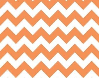 Summer Clearance Riley Blake Fabric - 1 Yard of Chevron in Orange