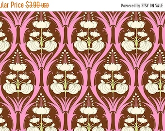 Summer Clearance Amy Butler Soul Blossoms Fabric - Half Yard Passion Lily in Mulberry