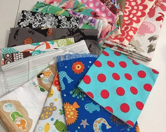 Large Scrap Pack - Michael Miller, Amy Butler and Riley Blake Fabrics