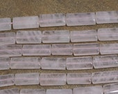 Rose Quartz rectangle beads, mixed sizes, 10mm wide x  16mm - 20mm long, multiple quantities available (1231S)