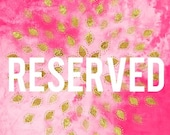 Reserved listing for Nalana - design fee