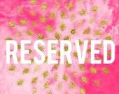 Reserved listing for Nalana - design fee