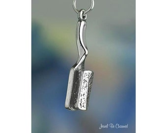 Sterling Silver Hair Brush Charm Hairdresser Stylist Salon Solid .925