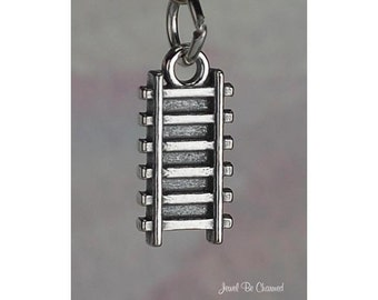 Sterling Silver Railroad Train Tracks Charm Track Travel Solid .925