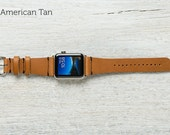 The Lowry Leather Band for Apple Watch Series 1 & 2 - American Tan 42mm
