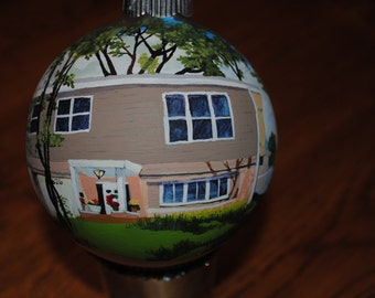 Custom Hand Painted First Home Ornament done from picture  2016 - sold
